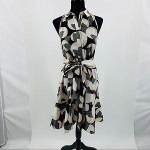 Ann Taylor Hidden Front Button Multi Color Dress